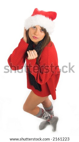 A very sexy Mrs. Santa Clause - stock photo
