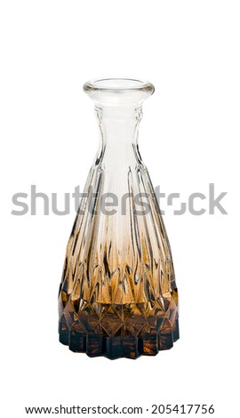 a vial for liquid isolated on the white background - stock photo