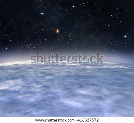 A view from the orbit of alien planet
