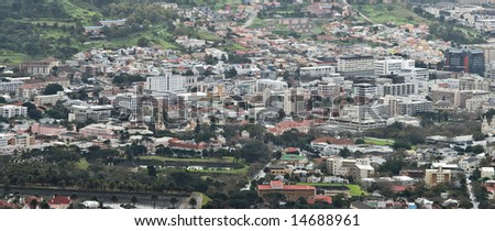 A view of a part of Cape Town, South Africa.