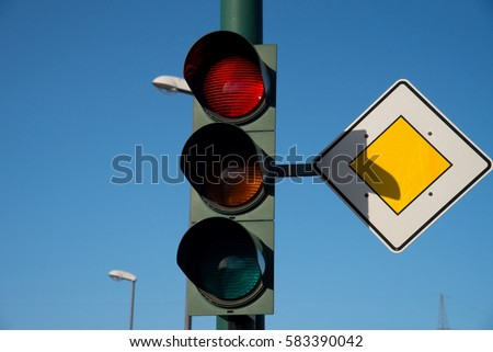 A view of a traffic light