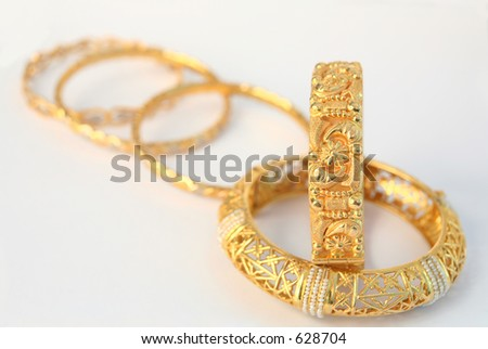 Indian Gold Jewellery Stock Royalty Free & Vectors