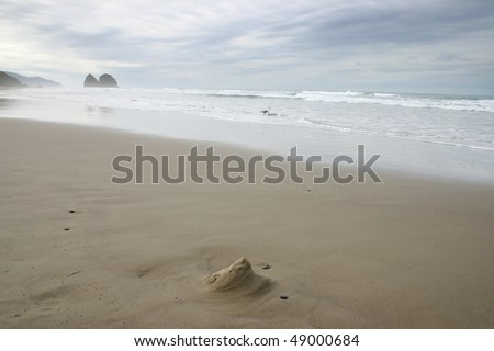 A view of Cannon Beach in Untied State. - stock photo