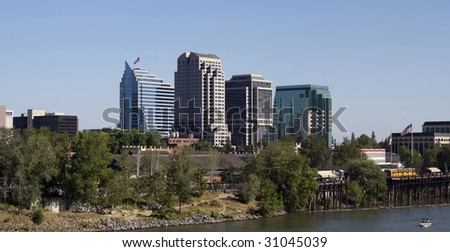 A view of downtown Sacramento California - stock photo