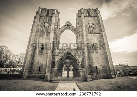 A view of Elgin cathedral in Scotland