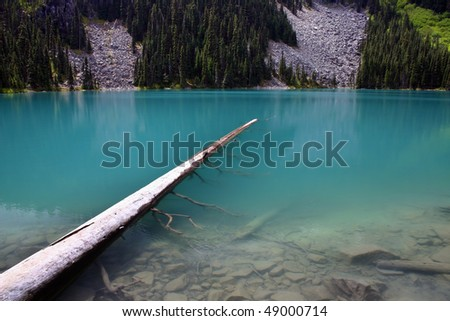 A view of Joffer lake in BC, Canada. - stock photo