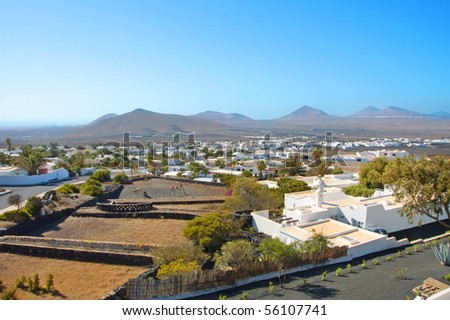 A view of Lanzarote, in the Canary Islands, Spain