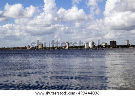 A view of Riverside in Jacksonville Florida as seen from across the St. Johns River