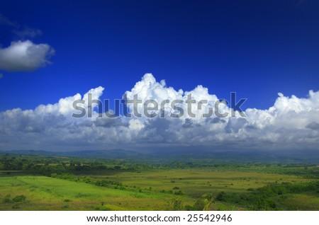 A view of Sierra del Escambray landscape in Cuba - stock photo