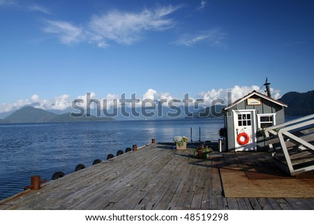 A view of small harbor in Keats island BC, Canada.