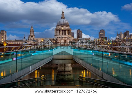 A view of St Paul's from the milenium bridge