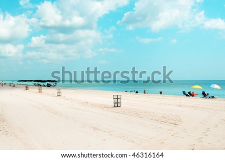 a view of sunny isles beach, Florida, USA - stock photo