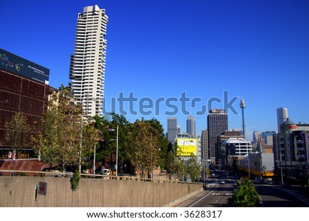 A view of Sydney's skyline from Kings Cross