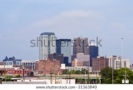 A view of the skyline of Birmingham Alabama - stock photo