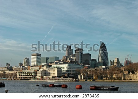 a view of the skyline of london