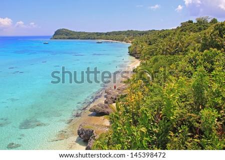 A view of Vanuatu, Pacific Island - stock photo
