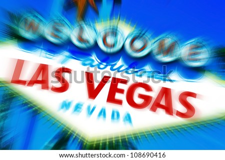 A view of Welcome to Fabulous Las Vegas sign - stock photo