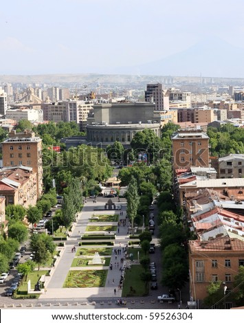 A view of Yerevan, Armenia