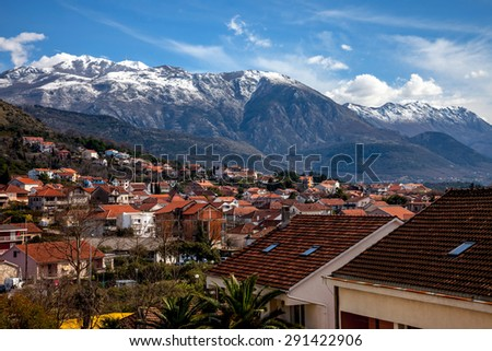 a view on Lovcen mountain - stock photo