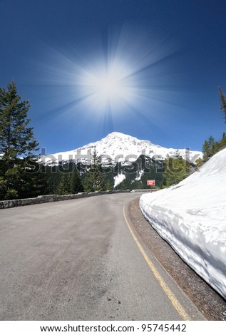 A View point of of Mt Rainer - stock photo