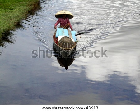 A villager and her boat