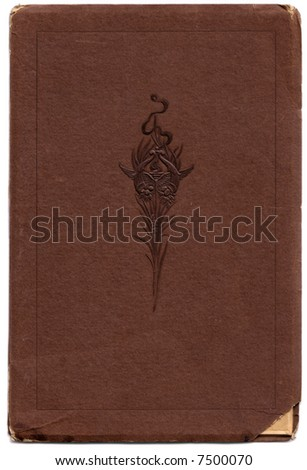 A vintage card-stock jacket for a portrait photo with an embossed design, suitable for a background. - stock photo