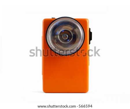 A vintage flashlight 02 (Retro 03) - stock photo