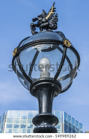 A vintage London Lamp Post, UK