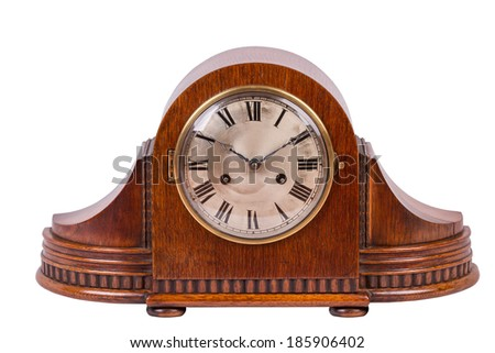 Superior A Vintage Table Clock Isolated On A White Background
