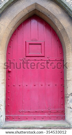 A vintage wood door - stock photo
