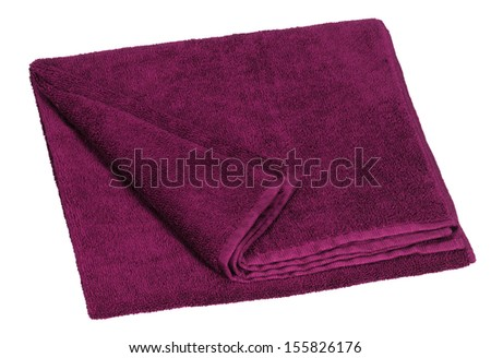 a violet towel in white back