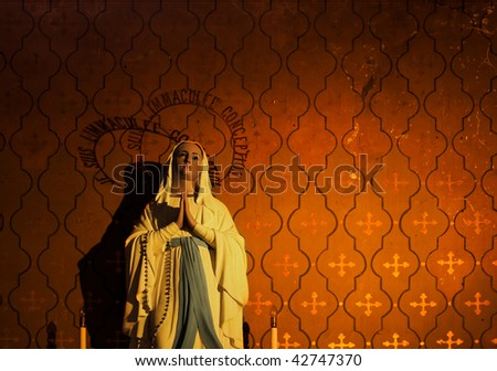 A virgin Mary image - stock photo