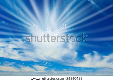 A vision of God in Heaven. - stock photo