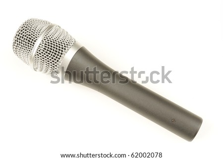 A vocal microphone isolated on white. - stock photo