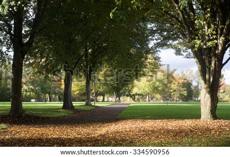 A warm day in early fall at Alton Baker Park in Eugene Oregon - stock photo