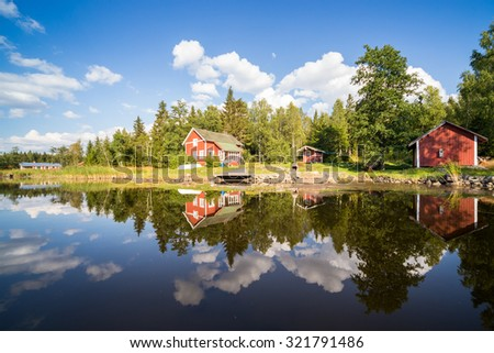 A warm summerday in the Finnish archipelago  - stock photo