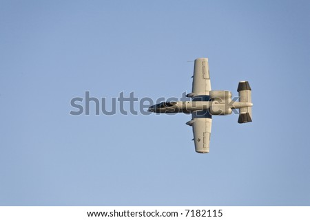 A10 Warthog on display at Aviation Nation 2007. - stock photo