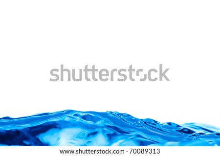 a water background of a blue wave - stock photo