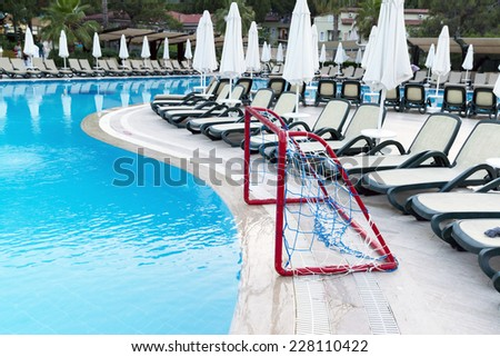 A Water Polo Goals near the pool