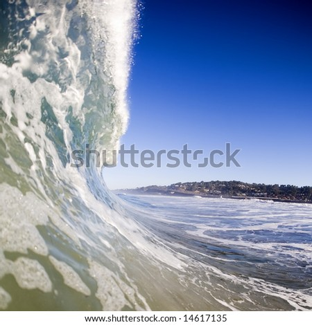 A Wave about to break - stock photo