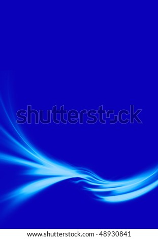 A wavy blue abstract illustration with copyspace.  Makes a great background. - stock photo