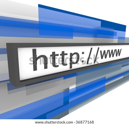 A web address bar featuring the familiar terms http and www