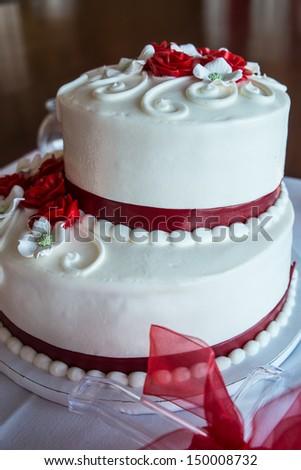 A wedding cake  - stock photo