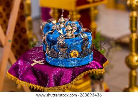 A wedding crown - stock photo