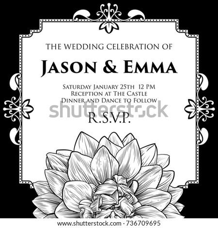 Wedding Invitation Invite Save Day Template Stock Illustration ...