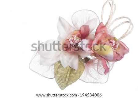 a weddings favors on a white background - stock photo