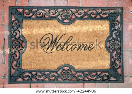 a welcome mat - stock photo