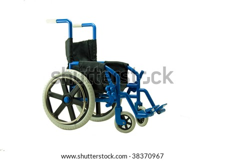 A wheel chair such as what is used for someone who is disabled