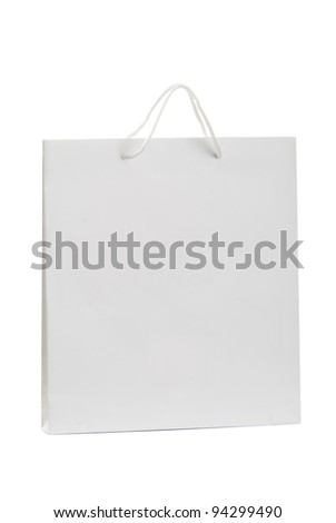 A white bag for shopping