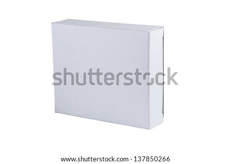 A white box isolated on white background with clipping path - stock photo
